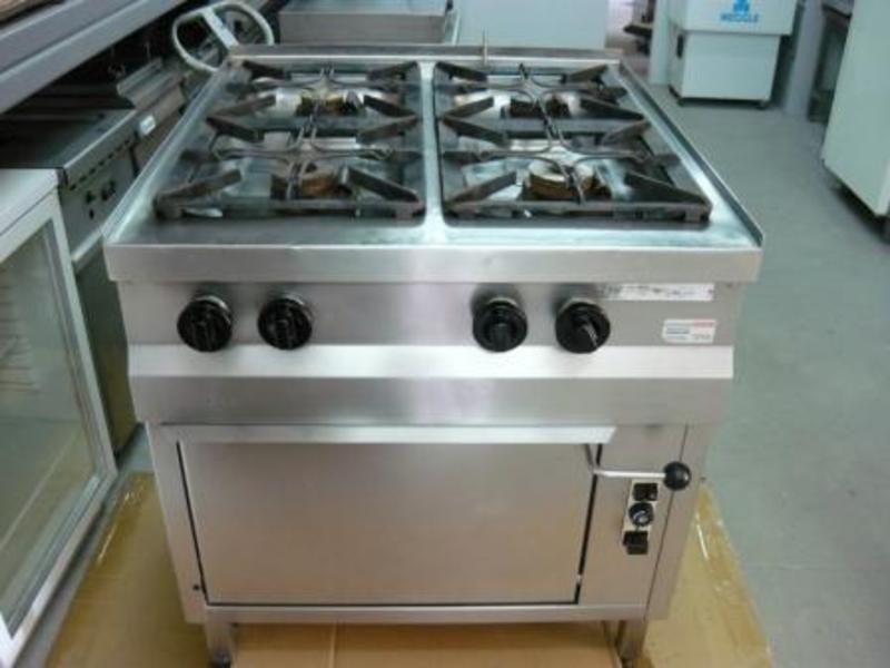 Kuchnia Gastronomiczna Gazowa 4 Palnikowa Z Piekarnikiem